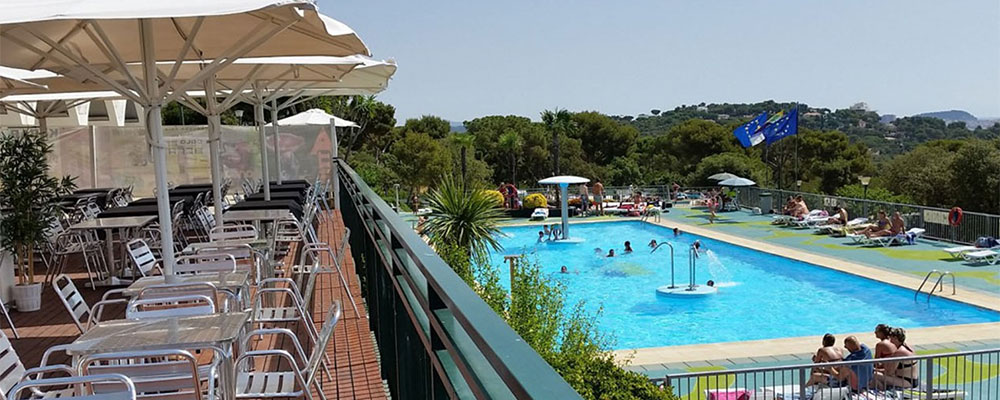 Zwembad op camping Cala GoGo in Spanje