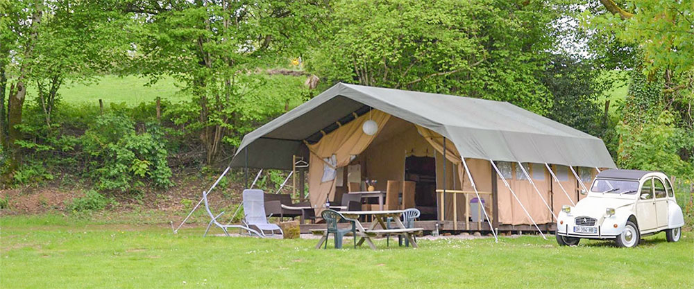 Safaritent op camping Ambiance Morvan
