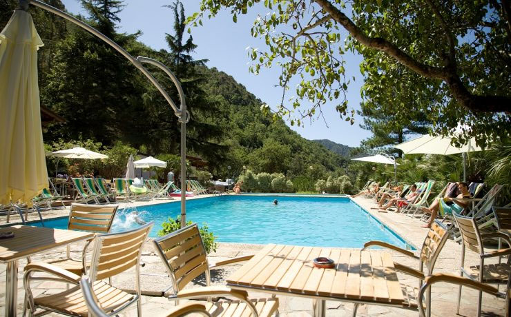 Zwembad camping Delle Rose in Luguria